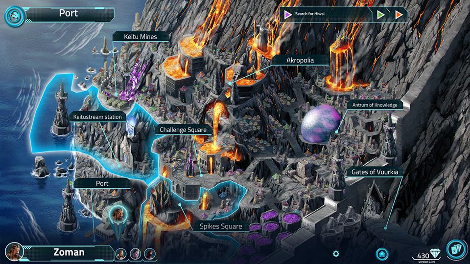 Una parte della mappa di gioco
